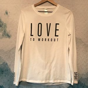 Victoria's Secret Sport M White Cutout Back Top